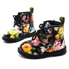 ee3a931139b 2017 Kids Girls Boots Autumn And Winter PU Leather Waterproof Boots Zip  Rome Children Martin Boots Fashion Baby Girl Shoes -in Boots from Mother   Kids  on ...