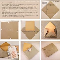 Paper Loves Glue: Envelope Tutorial for Embellished Cards - Create an envelope with depth for thicker items