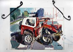 car crash by Ben Quilty