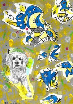 나의 개 파니와 파랑새 / My dog 'Pani' and bluebird