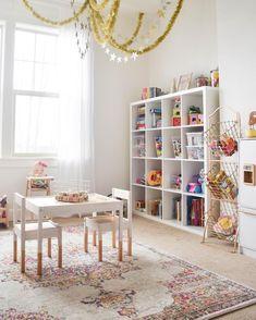 20 Fantastic Kids Playroom Design Ideas – Modern Home Office Playroom, Playroom Organization, Playroom Design, Playroom Decor, Playroom Ideas, Children Playroom, Colorful Playroom, Little Girls Playroom, Modern Playroom