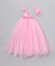 Take a look at this Dusty Rose Tutu Dress & Headband - Infant, Toddler & Girl by Bébé Oh La La on #zulily today!