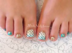 Mermaid pedicure