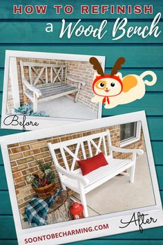 Walk through my DIY Bench Makeover step by step! I found this outdoor bench for $40 and it was so easy to refinish. #bench #makeover #refinish #DIY #diyfurniture #nostripping #sanding #grit #redo #paint #easy Outdoor Projects, Diy Projects, Diy Bench, Diy On A Budget, Diy Kitchen, Diy Furniture, Entryway Tables, Easy Diy, Home Improvement