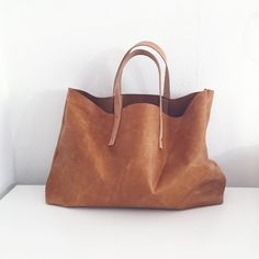 Copper Leather Tote by @moultonatx
