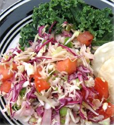 Sweet And Spicy Cole Slaw Hcg Recipe   Hcg For You --- 6 c. green cabbage, shredded  2 c. red cabbage, shredded  2 med. tomatoes, seeded and chopped  6 green onion, coarsely chopped  1-2 jalapeno peppers, seeded and finely  chopped  ½ c. cider vinegar  2-3 pkts. Splenda or other sugar substitute  Salt to taste
