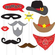 Western Photo Booth Props Pkg/10