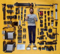 """""""I don't need more gear"""" said no one ever! Insane collection and Photo by @jaanalbalushi who bought his first camera 9 years ago! Tag a friend who needs more gear!"""