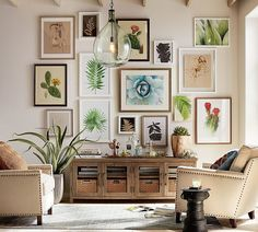 Clift Oversized Glass Pendant - but I love this art wall too!