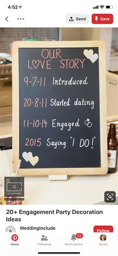 Fall Engagement Parties, Engagement Party Decorations, Our Love, Love Story