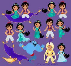 50% Desert Princess Digital Clipart / Princess Jasmine Digital Clipart For Personal and Comercial Use / INSTANT DOWNLOAD         April 20, 2014 at 02:17PM
