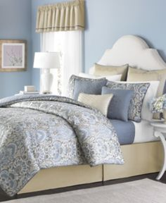 Refresh your room with the relaxing and regal look of the Amora 22-piece comforter set from Martha Stewart Collection, complete with window treatments, shams, comforter ...