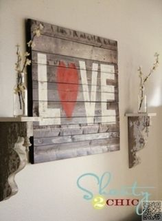 15. #Pallet Art - 39 Stylish #Examples of DIY Wall Art ... → DIY #Sample