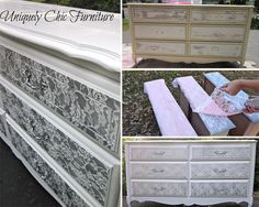 "<input class=""jpibfi"" type=""hidden"" >This is a wonderful idea to dress up drawers or any piece of furniture at all. Pop lace over the area to be sprayed for this stunning effect. It 's a great way to make your unsightly old dresser shine and different than it was before. The tutorial is simple and easy, please check the…"