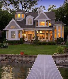 {Weekend Dreaming} Gorgeous Lake House - The Inspired Room. Nantucket style lake house, and it's a Michigan architecture company too! Haus Am See, Villa Plan, House Goals, Life Goals, My Dream Home, Dream Homes, Exterior Design, Future House, Beautiful Homes