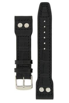 IWC Aviation Style Gator Leather Watch Strap in BLACK – £37.95 This IWC Aviation style watch strap is made from premium quality leather in a selection of colors and styles. Do not settle for less. These straps are handmade specially for IWC watches.