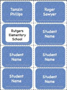 Editable Denim Labels Pack (8 labels per page). This pack has two files: one saved as a PDF and one saved as a  Power Point 2010. It is great for all elementary grade levels. You can use the labels around your classroom. Both files have 8 pages. That is a total of 64 labels.