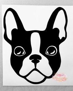Boston Terrier decal for Yeti Rtic tumblers Instant Pots Boston Terrier Cake, Boston Terrier Tattoo, Cute French Bulldog, French Bulldogs, Baby Bulldogs, English Bulldogs, Dog Car, Animal Photography, Equine Photography