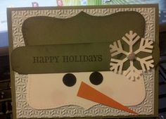 DIM Happy Snowman Face by jdmeeks - Cards and Paper Crafts at Splitcoaststampers