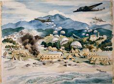 Peter McIntyre (1910-1995) - General Hospital, Crete, 1941
