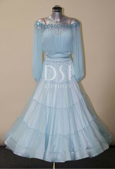 DSI romantuc blue ballroom dress