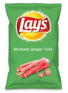 Wouldn't Rhubarb ginger Tots be yummy as a chip? Lay's Do Us A Flavor is back, and the search is on for the yummiest flavor idea. Create a flavor, choose a chip and you could win $1 million! https://www.dousaflavor.com See Rules.