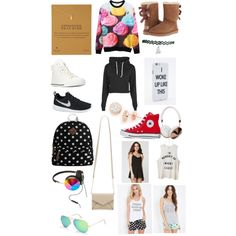 Wish list by fabfive1999 on Polyvore featuring polyvore, fashion, style, Boohoo, LA: Hearts, Forever 21, UGG Australia, NIKE, Converse, Kate Spade, Steve Madden, Lord & Taylor, Dogeared, Frends, Ray-Ban and Urban Outfitters