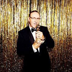 "Kevin Spacey -- Best Actor in a TV Series, Drama, ""House of Cards"" #goldenglobes (Photo by @ellenvonunwerth)  IMAGE: @GOLDENGLOBES ON INSTAGRAM"