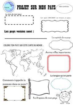 Francés hasta en la sopa...: Fiche: Projet sur mon pays