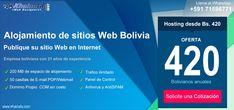 Alojamiento de Páginas Web Bolivia, desde Bs 420 Bolivia