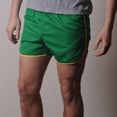 Men's Green Retro Gym shorts 1970s