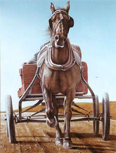 The red wagon 1966 tempera à l'oeuf sur bois` Ken Danby Canadian Painters, Canadian Artists, Art Gallery Of Hamilton, Nouveau Realisme, Algonquin Park, Red Wagon, Interactive Art, Realistic Paintings, Music Photo