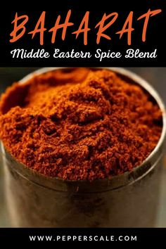 This is an amazing Middle Eastern spice blend! The heat in Baharat comes in two forms. First, chili pepper based paprika provides the true spiciness. Due to the dilution among the other spices, it's a mellower warmth, so feel free to increase the amount to match your spiciness tolerance (or opt for a hot paprika instead of a generic or sweet variety). #Baharat #middleeasternspice #spices #spiceblend Spice Blends, Spice Mixes, Lunch Recipes, Breakfast Recipes, Chipotle Recipes, Flavored Olive Oil, Homemade Seasonings, Middle Eastern Recipes, Healthy Eating Tips