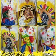 Recordando algunos motivos pintados en el año 2015 ¡Pinta carnavalera!  #Carnavart #Barranquilla #BarranquillaLovers #Curramba #Quilla #LaArenosa #ArteColombiano #Colombia #Colombian #Colombiarte #Artes #Arte #HechoAMano #HechoEnColombia #PintadoAMano #CamisasDeCarnaval #PintaCarnavalera #CamisasPersonalizadas #CarnavalDeBarranquilla #MadeInColombia #Marimonda #Marimondas #BarranquillaColombia #SomosCarnaval #quienloviveesquienlogoza Diy Painting, Hand Embroidery, Carnival, Lily, Princess Zelda, Tags, Crafts, Fictional Characters, Inspiration