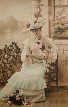 Original,French real photo postcard from 1906..