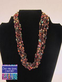 Ribbon Necklace Autumn Splendor by ShopOfftheHook on Etsy, $20.00