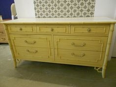 Hold Thomasville Allegro Faux Bamboo Double Dresser