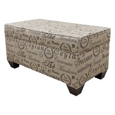 Have to have it. Skyline Tea House Upholstered Storage Bench - $271.99 @hayneedle.com