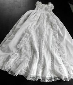 French Vintage Christening Gown Handmade