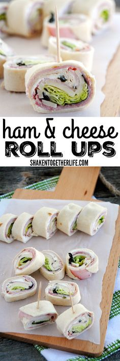Sick of sandwiches Need an easy party appetizer Our Ham Cheese Roll Ups are way more fun than a sandwich andyou will love all those flavorful layers rolled inside a soft flour tortilla Perfect for lunch boxes and parties alike Ham Cheese Rolls, Ham And Cheese Roll Ups, Ham And Cheese Pinwheels, Easy Cheese, Ham Roll Ups, Tortilla Pinwheels, Cheese Food, Baked Cheese, Cheese Bread