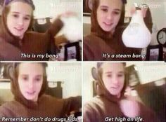 so inspirational brad i love u hahaha and i watched this video he was sick so he sounded sooo funny!:) And there u have it from Bradley Simpson, don't do drugs kids