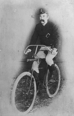 """Bicycles - Queensland police walked """"the beat"""" until the first issue of bicycles in January 1896..."""