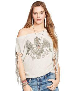 Fringed Sleeveless Sweatshirt - Denim & Supply  Long-Sleeve - RalphLauren.com