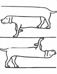 Draw Dogs Classical Conversations upside down drawing illusions Creature Drawings, Animal Drawings, Cc Drawing, Drawing Tips, Funny Optical Illusions, Illusion Art, Drawing Techniques, Teaching Art, Op Art