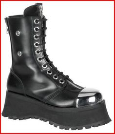 Punk Clothing Boots Steel Toe Punk Calf Boots ( Get your goth on with gothic punk clothing - a favorite repin of www.vipfashionaustralia.com )