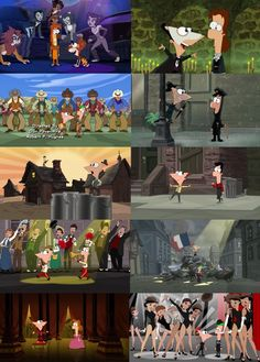 Broadway musical Easter Eggs in Phineas and Ferb
