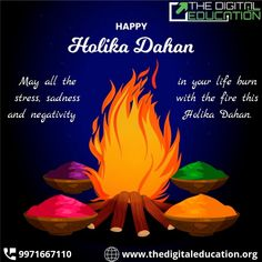 May all the stress, sadness and negativity in your relation burn with the fire this Holika Dahan. . . . . . #holikadahan #holikadahan2021 #holikaholika #holika #holikerang #holi #holistic #holi2021 #holistichealth #HappyHolikaDahan #happyholi2021 #HappyHoli #TDE #TheDigitalEducation Happy Holi, Sadness, Burns, Fire, Education, Digital, Grief, Onderwijs, Learning