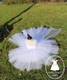 Tailing full Length TuTu Dress Toddlers Flower Girl by PLdress