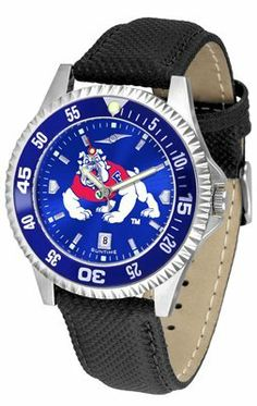 Fresno State Bulldogs Competitor Anochrome- Poly/leather Band W/ Colored Bezel - Men's - Men's College Watches by Sports Memorabilia. $78.73. Makes a Great Gift!. Fresno State Bulldogs Competitor Anochrome- Poly/leather Band W/ Colored Bezel - Men's