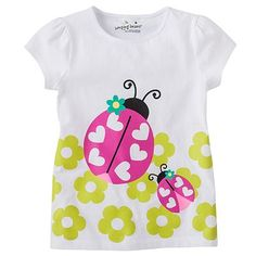 sweet spring ladybug tee